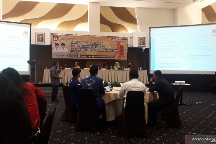 KPU Bangka Tengah rapat koordinasi persyaratan pencalonan Pilkada 2020