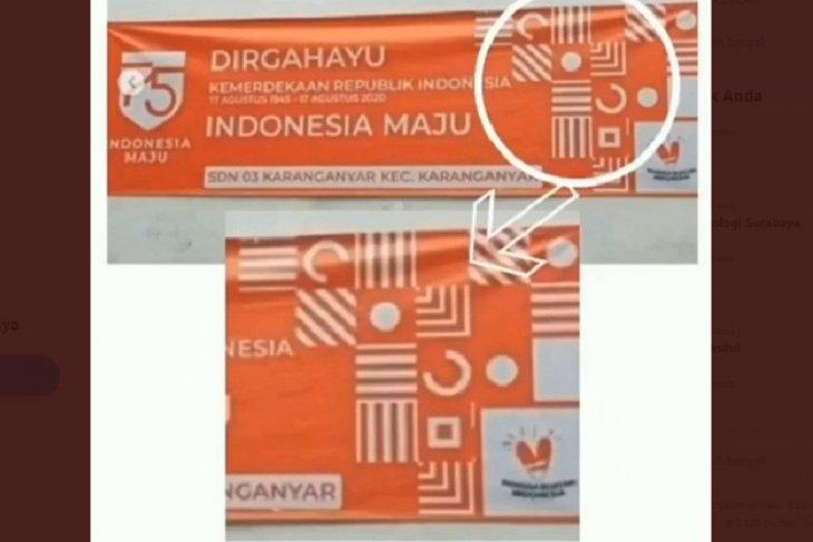 Benarkah logo HUT Ke-75 RI memuat lambang salib? ini faktanya