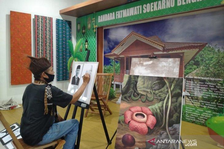 Lukisan 27 seniman Bengkulu semarakkan HUT PT Angkasa Pura II