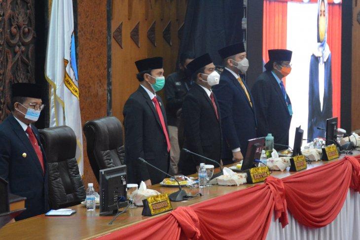 Terapkan protokol kesehatan, DPRD gelar paripurna mendengarkan pidato kenegaraan Presiden
