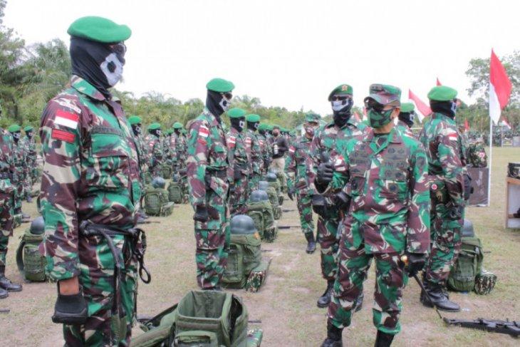 450 personel Yonif 642/Kps siap ditempatkan  di 29 pos perbatasan Indonesia-Malaysia