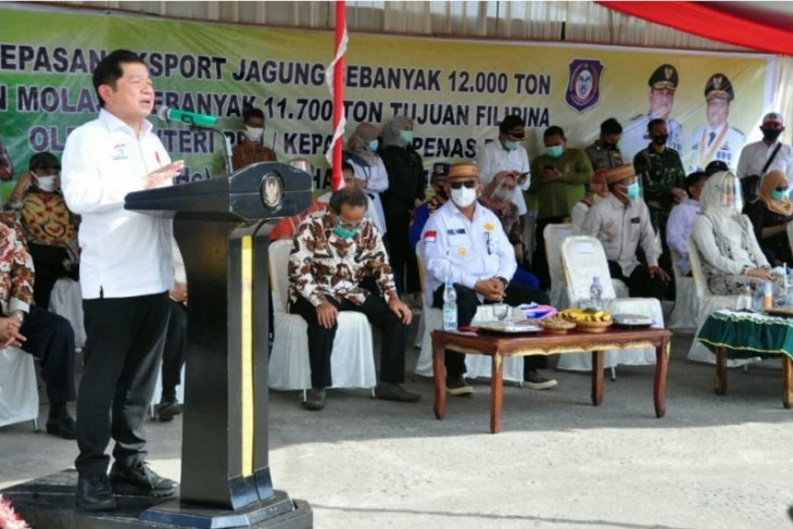 Suharso Monoarfa lepas ekspor jagung Gorontalo ke Filipina