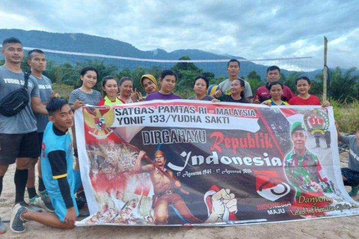Semarak HUT RI di batas Indonesia - Malaysia Kapuas Hulu Kalbar