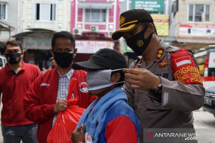 Polresto Bekasi gelar operasi penggunaan masker jalankan Instruksi Presiden