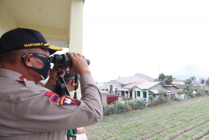 Kapolda pantau aktivitas vulkanik Gunung Sinabung