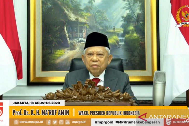VP Amin gives speech during virtual commemoration of Constitution Day
