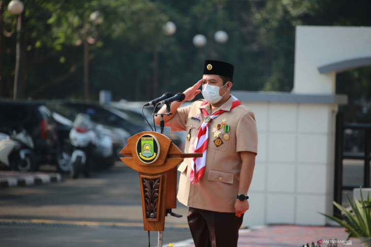 Kota Tangerang libatkan  anggota Pramuka  kampanye 3M cegah COVID-19