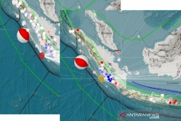 Gempa di Bengkulu terjadi di Segmen Megathrust Mentawai-Pagai