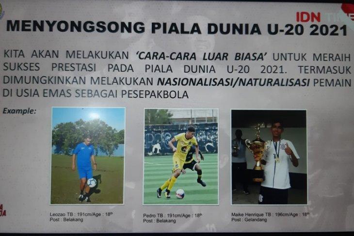 Indra tegaskan pimpinan PSSI tak pernah sampaikan rencana naturalisasi pemain