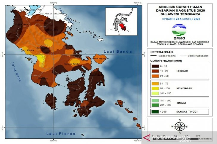 Four districts in SE Sulawesi experience days without rain: BMKG