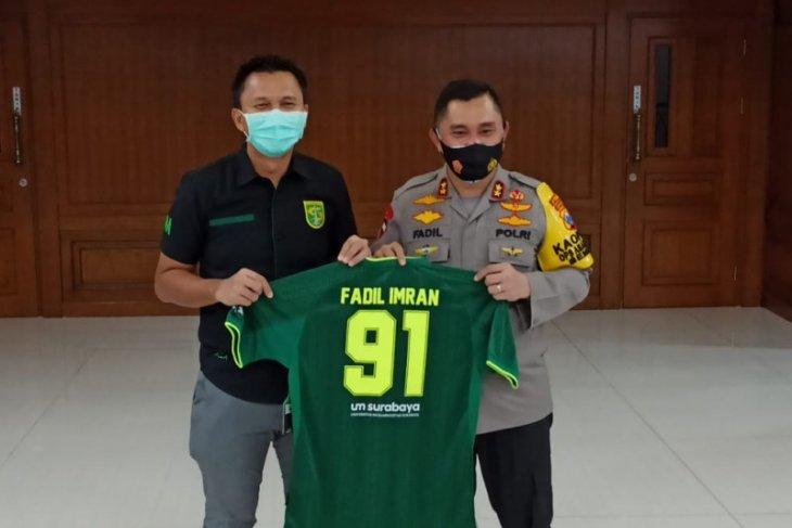 Presiden Persebaya temui Kapolda Jatim bahas rencana bergulirnya Liga 1