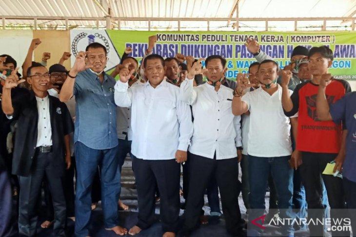 Komunitas peduli tenaga kerja deklarasikan dukungan untuk Iye-Awab di Pilkada Cilegon