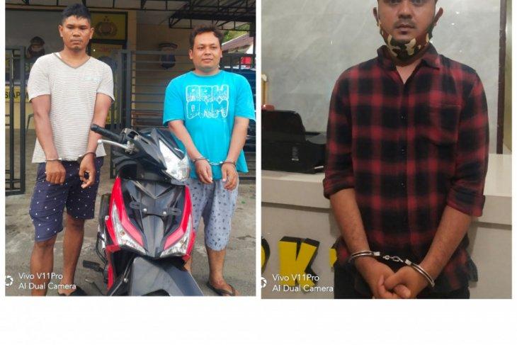 Tiga pelaku pencurian sepeda motor ditangkap Polsek Binjai Barat
