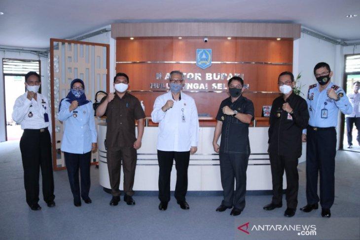 Dorong bantuan hukum bagi masyarakat, Kanwil Kemenkumham Kalsel kunjungi HSS