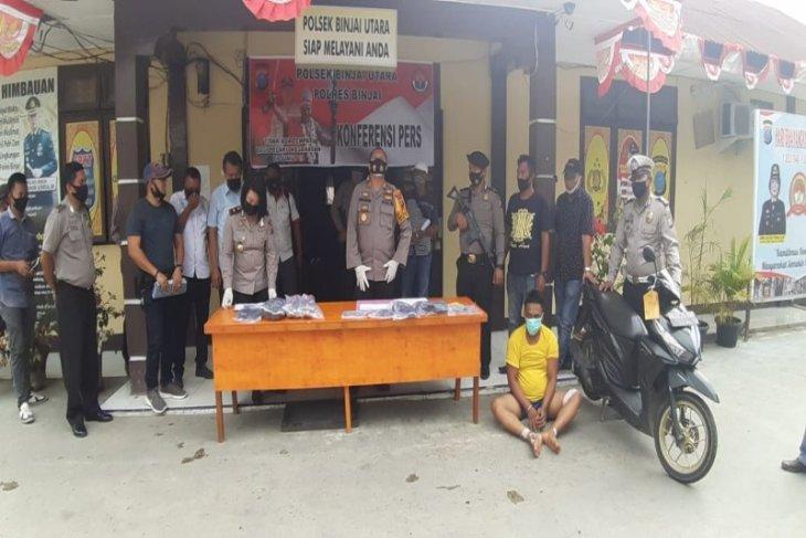 Polsek Binjai Utara lumpuhkan perampok Alfa Mart dengan timah panas