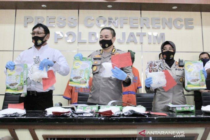 Polisi Jatim sita 6,5 kilogram sabu-sabu dari jaringan Malaysia