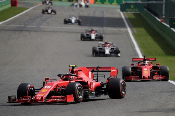 Ferrari alami frustasi di GP Belgia jelang dua balapan di kandang