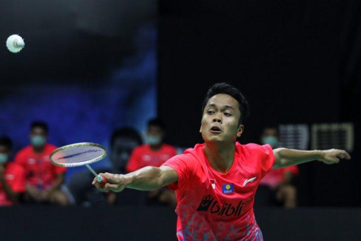 Anthony Ginting ke putaran kedua Thailand Open II