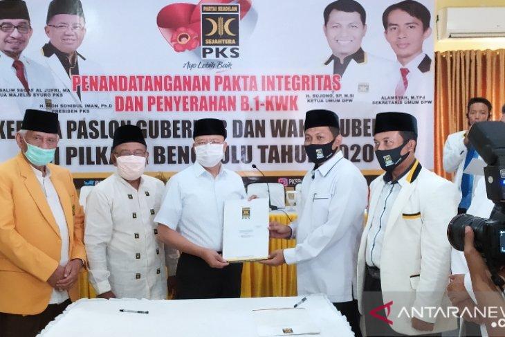 Tiga pasangan bakan calon gubernur-wagub Bengkulu yang diusung parpol