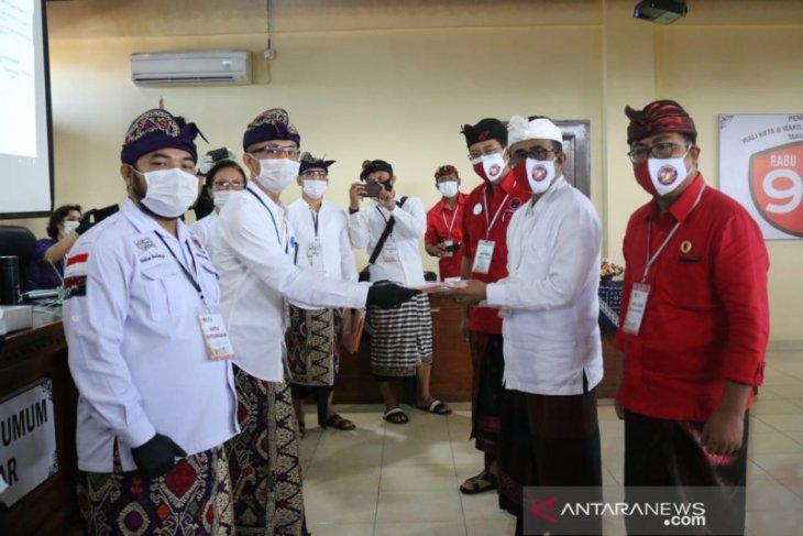 Di Denpasar, Paket Jaya-Wibawa pendaftar pertama Pilkada 2020