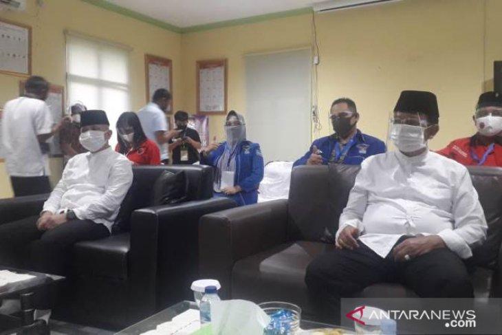 Pasangan Didit-Korari mendaftar ke KPU Bangka Tengah