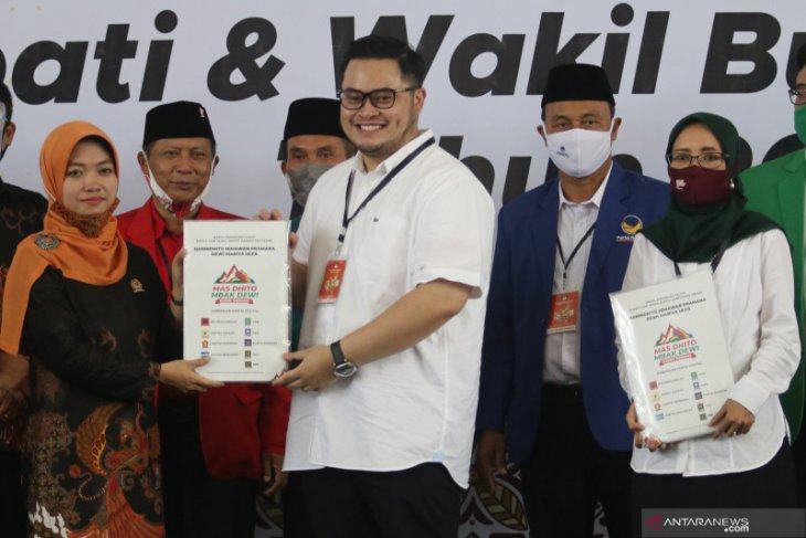 Pilkada Kediri, berkas pendaftaran Dhito-Dewi terkendala rekomendasi PAN