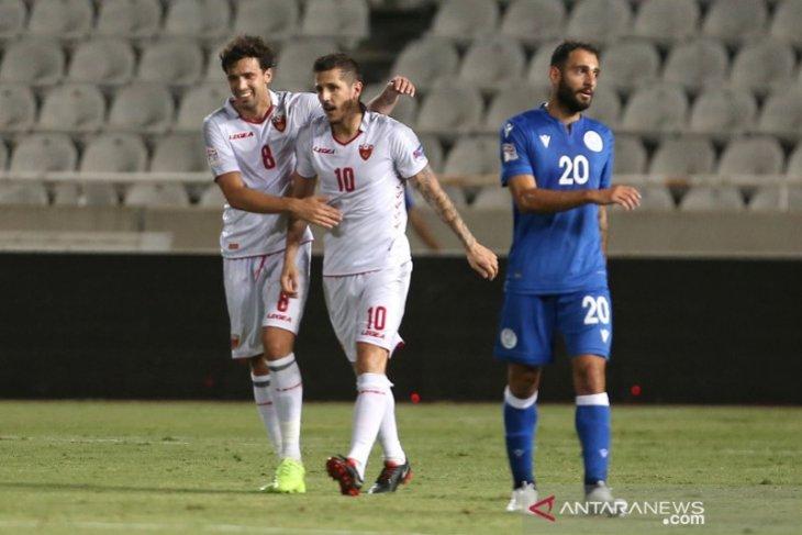 Kualifikasi Piala Eropa 2020: Montenegro pimpin grup C usai menang di Siprus