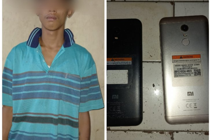 Polsek Pangkalan Brandan Langkat tangkap pencuri handphone