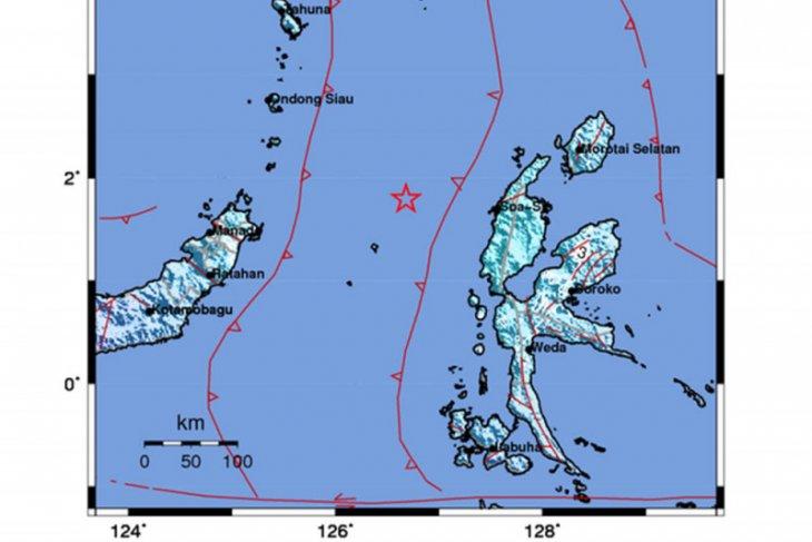 Gempa magnitudo 5,9 guncang Halmahera Barat, tidak berpotensi tsunami