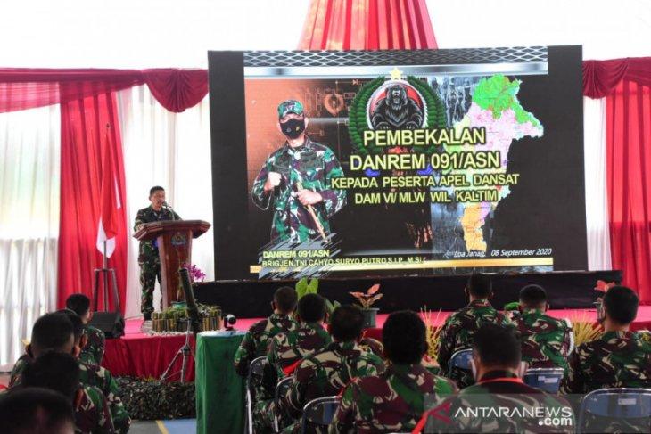 Kodam VI/Mulawarman gelar Apel Dansat Tersebar 2020