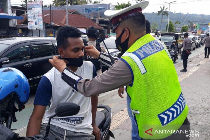 Polda Papua Barat mulai gencar lakukan operasi pemakaian masker