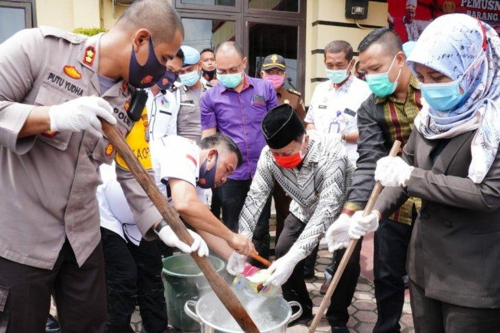 Polres Tanjung Balai musnahkan barang bukti sabu-sabu 6 kg