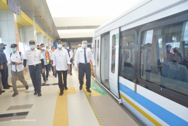 Menhub cek konektivitas transportasi antarmoda di Palembang