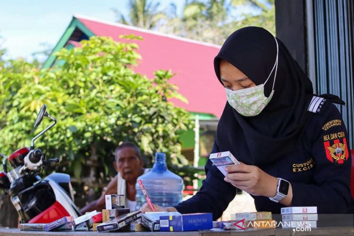 Bea cukai Bengkulu sita 218.109 batang rokok ilegal