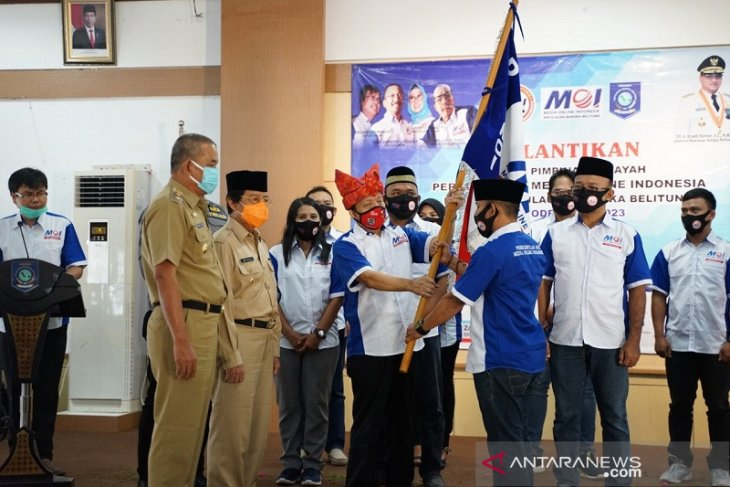 Wagub Bangka Belitung lantik dewan pimpinan media online Indonesia