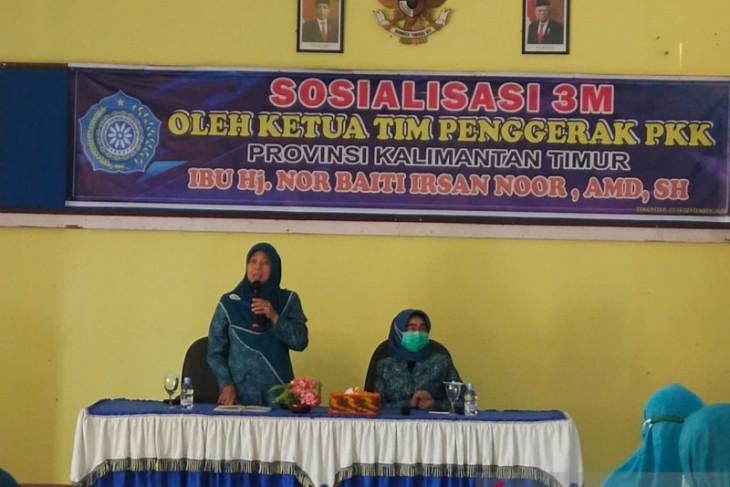 TP-PKK Kaltim Sosialisasikan 3M di Paser
