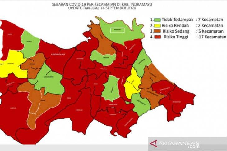 Ada tujuh kecamatan di Indramayu masih zona hijau COVID-19