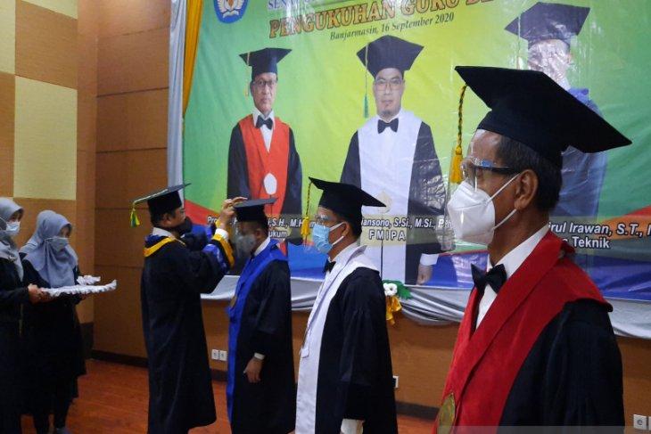 57 guru besar aktif kukuhkan kualitas Universitas Lambung Mangkurat