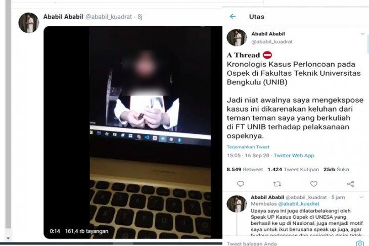 Panitia Ospek di Universitas Bengkulu terancam dikenai sanksi