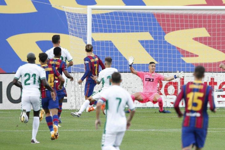 Griezmann membuat Barca catat kemenangan ketiga  laga pramusim