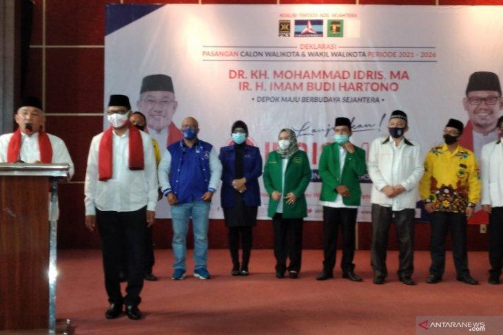 Dua paslon Pilkada Depok Idris-Imam dan Pradi Afifah adu janji kampanye