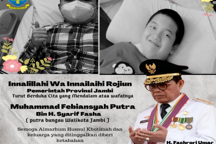 Positif COVID-19, anak bungsu Wali Kota Jambi meninggal dunia