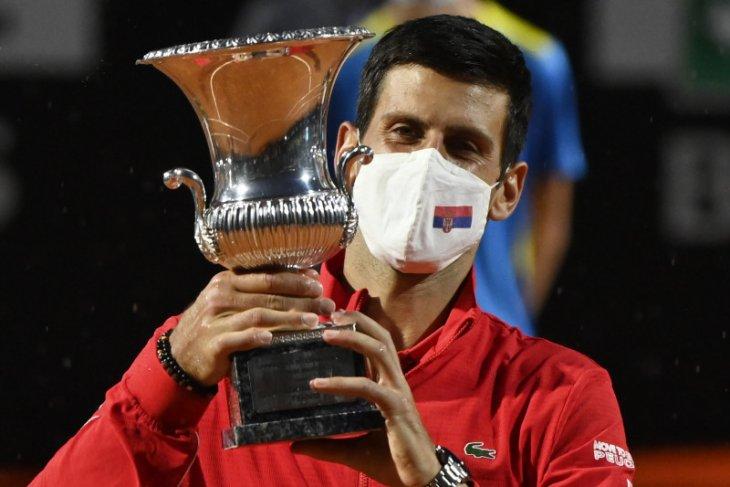 Djokovic untuk kelima kalinya juara di Italia Terbuka