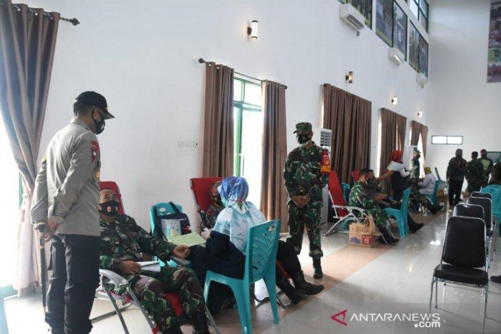 Korem 133/NW gelar donor darah sambut HUT TNI di Kabupaten Gorontalo