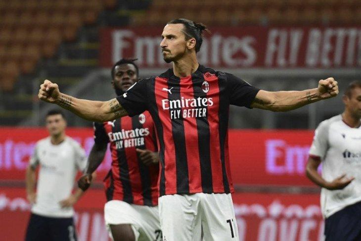 Ibra cetak dua gol, Milan awali musim dengan kemenangan 2-0