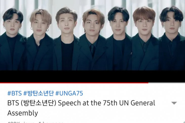 Grup K-POP BTS suarakan anak muda jangan menyerah di masa sulit pandemi COVID-19