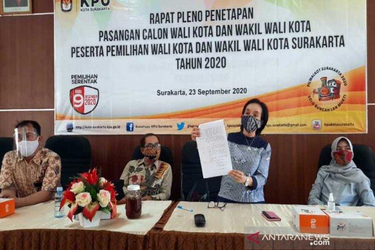 Pilkada Surakarta - KPU tetapkan Gibran-Teguh dan