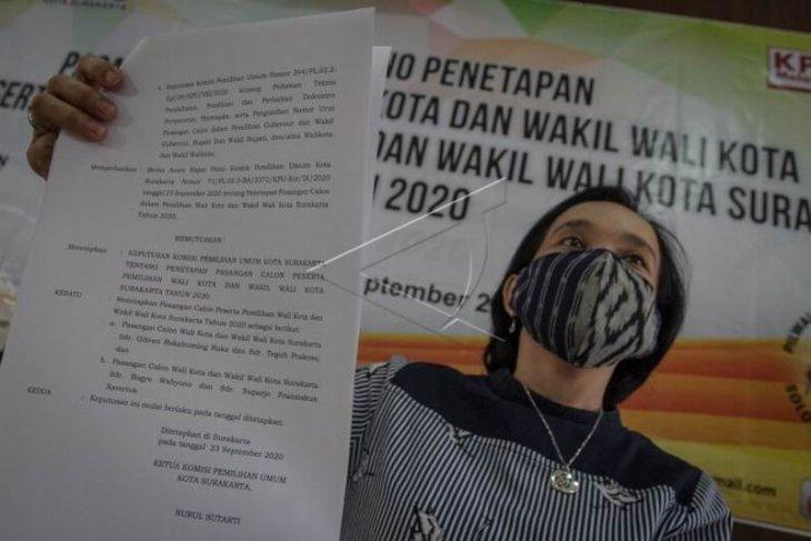 Penetapan pasangan Calon Wali Kota dan Wakil Wali Kota Surakarta