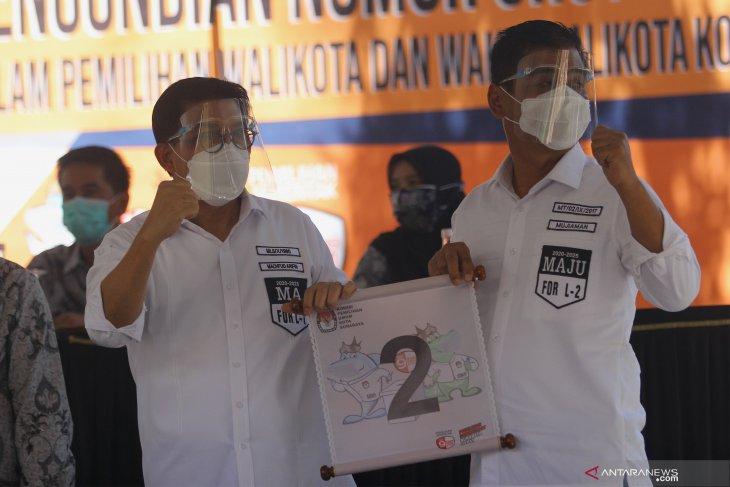 Pengundian Nomor Urut Paslon Pilkada Surabaya