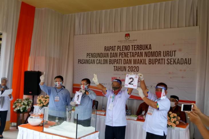 KPU Sekadau pleno tetapkan nomor urut pasangan calon Pilkada 2020